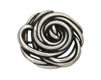 3 Wild Rose 9/16 inch ( 15 mm ) Metal Buttons