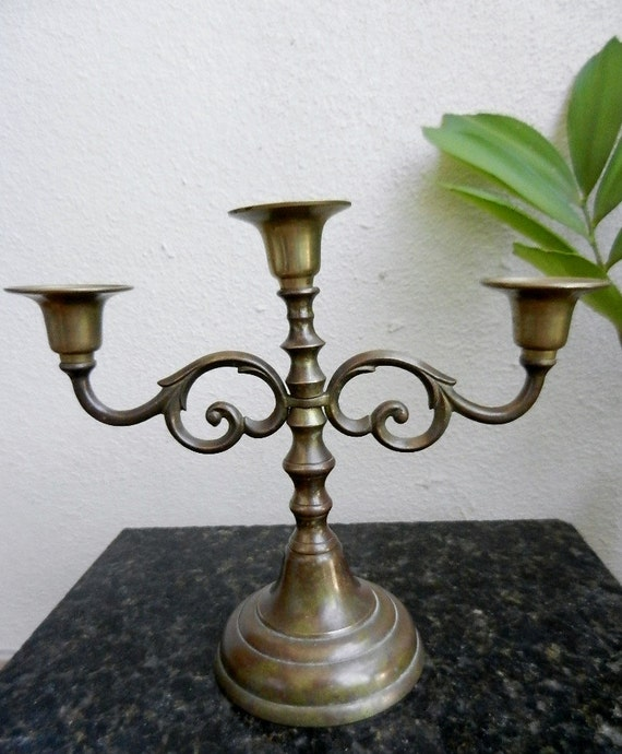 Solid brass vintage candelabra candle stick holder wedding
