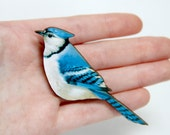 Bird Wooden Brooch