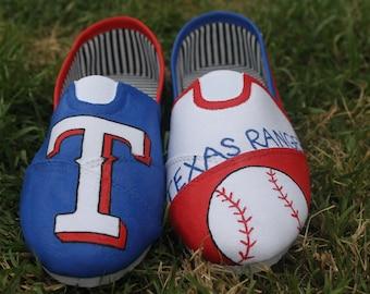 Texas Rangers Custom Hand Painted Shoes
