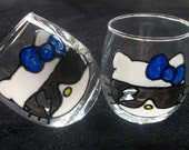 Hello Kitty Votive Candle Holder In Sunglasses with a Lightning Bolt