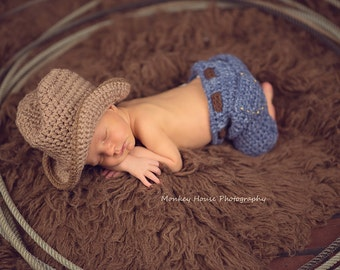 Newborn Jeans-- CROCHET PATTERN  PDF  Pattern Only--Instant Download