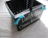 Custom Colors Available Flower Girl Basket With Sign
