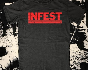 INFEST t-shirt, american apparel Also available on crewnecks and hoodies