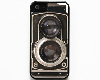 iPhone 5 Case. iPhone 5S Case. Silicone Lined Tough Case. Vintage Twin Reflex Camera. Phone Case. Phone Cases. Camera Phone Case.