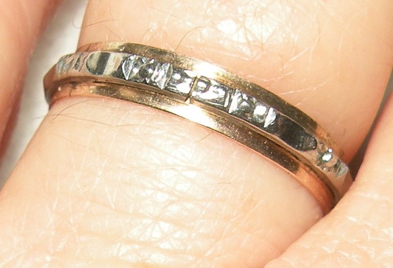 Vintage 10k yellow and white gold 1930's  Wedding Band/Band