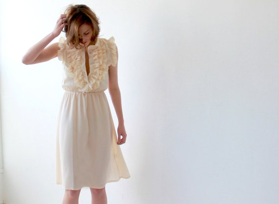 pastel yellow sundress women ruffle dress yellow by