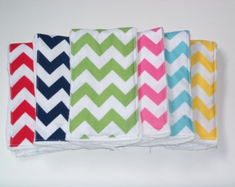 Burp Cloths in Chevrons. Baby Burp Cloths. Choose your Own Colors. Baby Spit Up Cleaning Cloths. Mom Shower Gift. New Mom Gift. Baby Rags