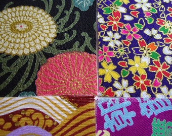 Four japanese fabric Scrap Pack.Pieces.n22