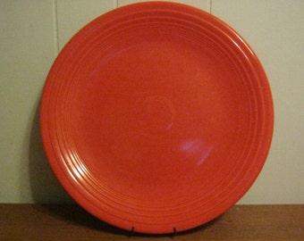 Rare Uranium Red Fiesta Double Footed 15 Inch Chop Plate