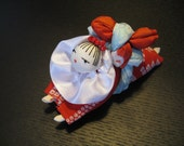Crawling Baby,Girl,Japanese Silk Kimono fabric,Chirimen Zaiku No.22