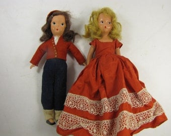 Two Vintage Dolls from the 1940's