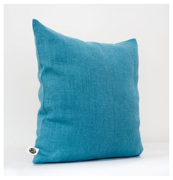 Blue turquoise pillow cover - decorative pillows - shams - cushion case - 18x18