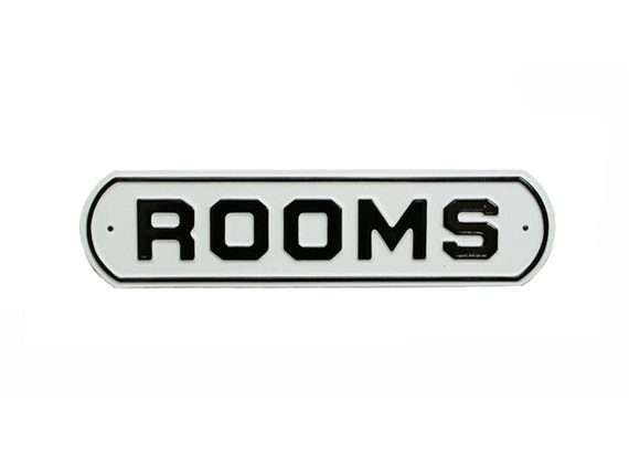 "Vintage ""Rooms"" Office Sign -- Mint Condition"