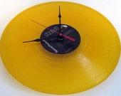 ELVIS PRESLEY - Record Clock  -  Elvis Commemorative Album - Yellow Vinyl - Upcycled