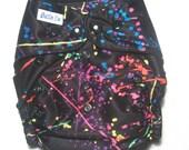 Modern cloth nappy / diaper - pocket style - Funky Black