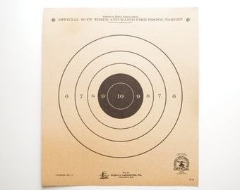 Vintage Shooting Targets - 50 Yard - Set of Two