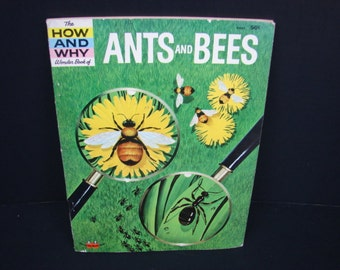 How and Why Wonder Book of Ants and Bees, Retro Science, Vintage Nostalgia