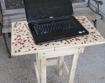 Blood-Splattered Laptop Table