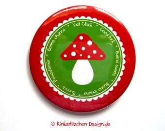 """Button """"Good Luck"""" Pin Congratulations Button 2.3"""" 59mm"""