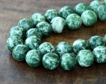 Tree Agate Beads, 10mm Round - 15 inch Strand - eGR-TA001-10