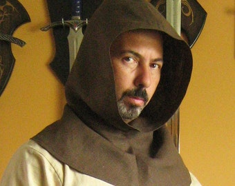Medieval Celtic Peasant Monk Assassin Hood