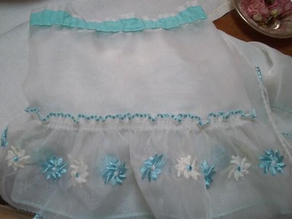 sheer aqua curtain vintage aqua blue turquoise by
