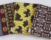 Funky Cloth Diaper Burp Cloth Set