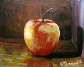 Autumn Apple a print of an original acrylic painting