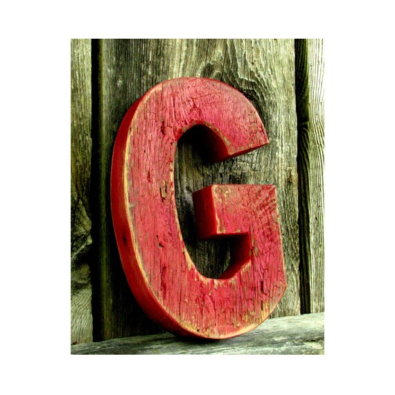 wooden letters decor items similar to rustic barn wood letter g painted 25676