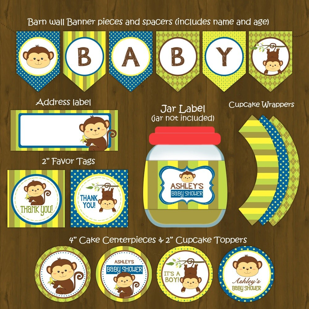 monkey boy themed baby shower images handicraft ideas home decorating