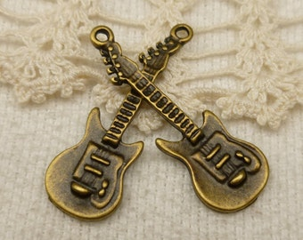 Electric Guitar Charm Pendant (5) - A47