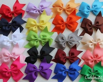 PICK 5 bows - 1.00 each bow - Non slip bow - cutebows - bow - none slip bows - girl bows - toddler bows - 20 colors bows - bow with clip