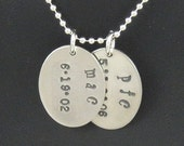 Mom Tags, Personalized Hand-stamped Necklace Perfect for Moms, Grandmas