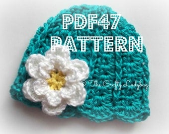 Snuggle Up spring beanie - 7 sizes included - newborn to adult - PDF47 instant download crochet pattern