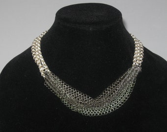 """18"""" twisted chainmaille necklace"""