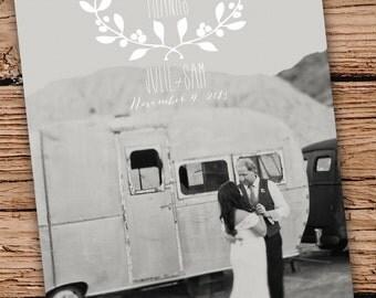 Custom Photo Wedding Thank You Card single sides (3.5x5)