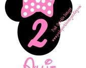 Minnie Mouse Birthday Shirt DIY Iron On