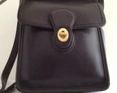 Vintage cross shoulder messenger Coach purse black leather SALE