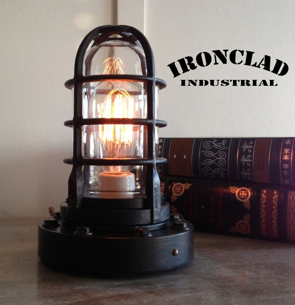 vintage industrial explosion proof style by ironcladindustrial. Black Bedroom Furniture Sets. Home Design Ideas