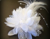 Bridal Hair Flower Hairclip, Wedding Hair Accessories, Wedding Hair Flower, Bridal Headpiece, Bridal Flower Hair Barrette