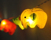 20 x handmade Elephant zoo animal plant paper lantern string light kid bedroom light display garland colorful