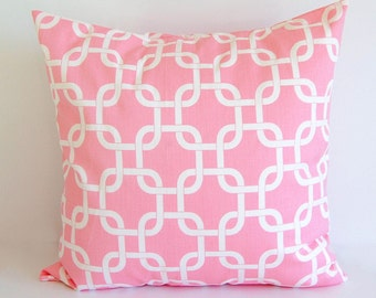 Pink throw pillow cover One cushion cover baby pink throw pillow cover bubblegum pink nursery decor
