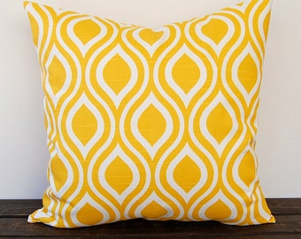 Yellow pillow cover One Nicole Corn Yellow cushion cover modern mustard pillow sham home decor