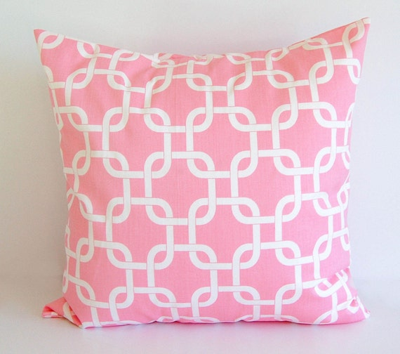 Pink Decorative Pillow Covers : Pink throw pillow cover One cushion cover baby pink throw
