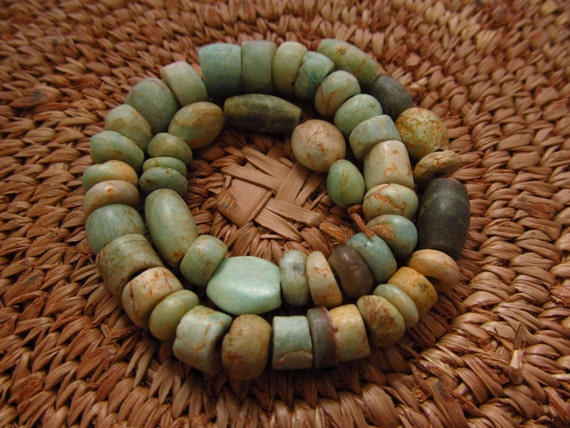 Reserved For Brock : Anicent Amazonite Beads