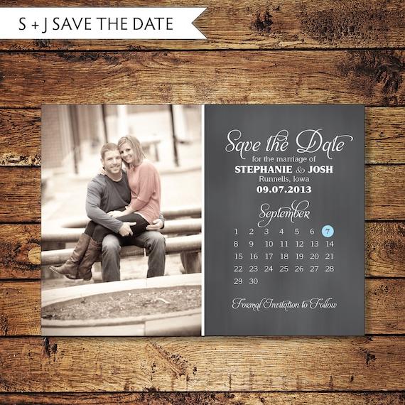 Save The Date Postcard Save-the-Date Card Calendar Photo