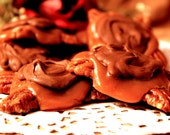 Handmade Chocolate Butter Pecan Turtles with Choice of Caramel