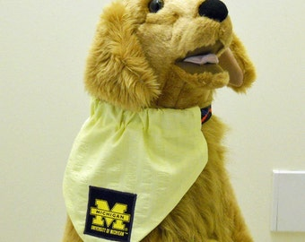 Pet Bandana University of Michigan Pet Bandana Large Yellow