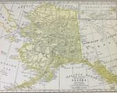 Vtg Alaska Map, 1928